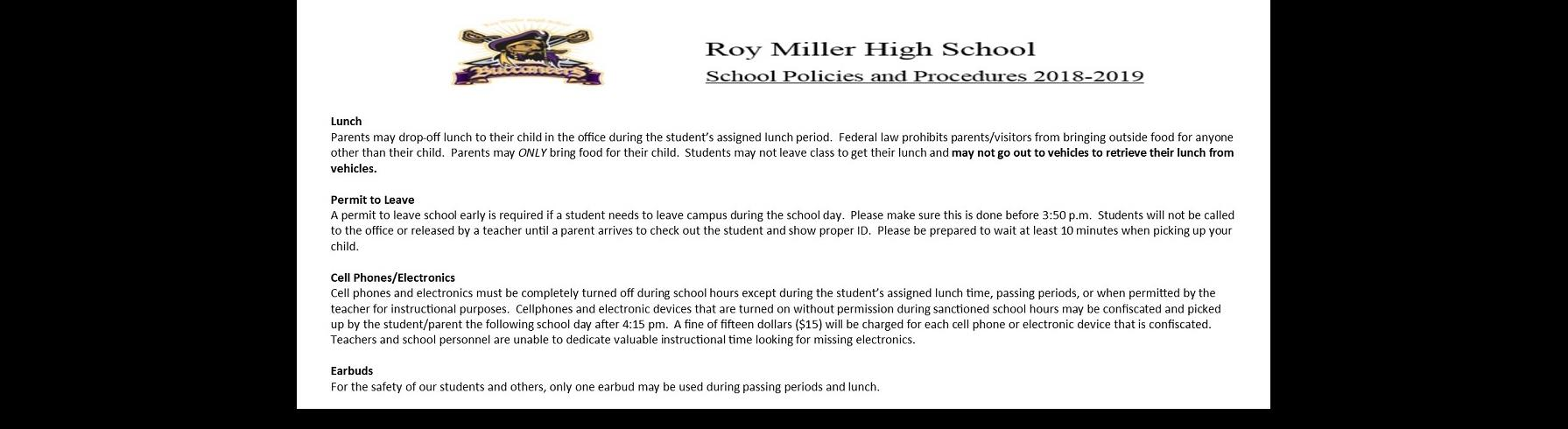 Student Policies and Procedures